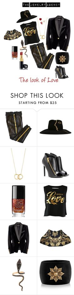"""The Jewelry Agency: The look of Love"" by the-jewelry-agency on Polyvore featuring Emilio Pucci, Céline Robert, Borgioni, Tom Ford, Chanel, Alexander McQueen, Ileana Makri, blackandgold, handcufffnecklace and thejewelryagency"
