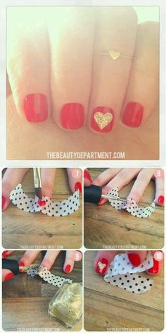 Valentines Day Nails. #Nails #Beauty #Gifts #Holidays Visit Beauty.com for more.