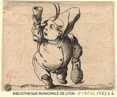 Le buveur vu de face par Callot, Jacques, 1592-1635