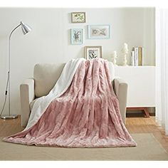 Dashing Super Soft Warm Shaggy Faux Fur Blanket Ultra Plush Decor Throw Blanket Bedding Quilts, Bedspreads & Coverlets