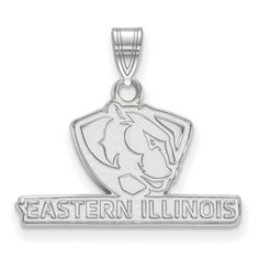 925 Sterling Silver Rhodium-plated Laser-cut University of Dayton XL Pendant