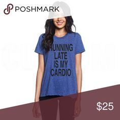 (10 Colors) Running Late Women's Fitted Tee 2017 Hot Dog Graphic Tees Made in the U.S. Tops Tees - Short Sleeve