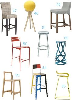 A bar & counter stool lesson: What's the difference between a bar & counter stool? How to choose the right height? Plus 72 amazing bar & counter stools!