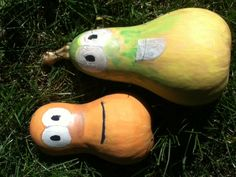 Gary and jerry veggie tales painted gourds