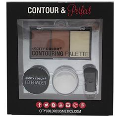 CITY COLOR Concealer Contour  Highlighter Set Contour  Perfect KitG0062 ** Find out more about the great product at the image link.