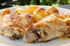 Pollo in padella con patatine novelle