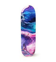 Abstract Art Skateboard Deck - P90