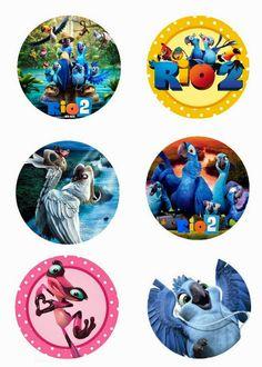 """Folie du Jour Bottle Cap Images: Rio 2 Free 1"""" inch digital bottle cap images"""