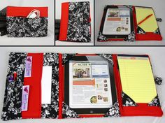 Gift idea. Sew an iPad cover, case, padded with extra pockets on the inside outside for cords, cards, etc.