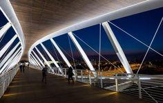 Beersheba station bridge in Israel is shaped like a pair of eyes