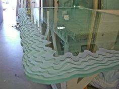 Iceberg Edge Dining Table (Close up) Dining Table Sale, Glass Dining Room Table, A Table, Sand Glass, Glass Art, Frosted Glass Design, Home Office, Traditional Dining Tables, Tv Wand