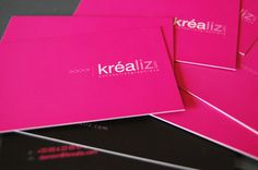 A Collection of 38 Creative Pink Business Cards | iBrandStudio
