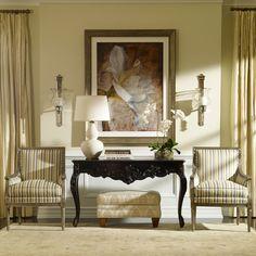 Neutral interiors. Ethan Allen living rooms.