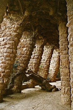 Park Güell is a garden complex with architectural elements situated on the hill of El Carmel in the Gràcia district of Barcelona, Catalonia, Spain.