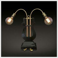 Handmade lamp - repurposed antiquity item circa 1860 - 1960.