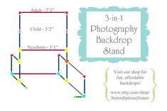 Photography Backdrop Stand Tutorial ~ 3-in-1 design for Newborn, Child & Adult portraits