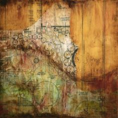 Prairie Fire, Lisa Bick (encaustic, mixed media)
