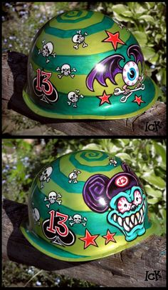 custom paint german motorcycle helmet