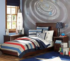 I love this decor for a boys room. Keeping my fingers crossed that my son loves space/sci-fi theme when he gets a little older.