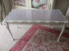 Beautiful Shabby Chic Glass Top Coffee Table