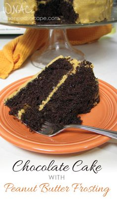 Chocolate Cake with Peanut Butter Frosting | Who Needs A Cape? The best combination of flavors imaginable, Peanut Butter and Chocolate! This cake is amazing!