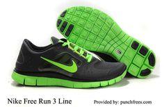 Nike Free Run 3 Mens Sequoia Electric Green $68.98, www.punchfrees.com