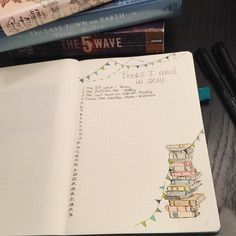 Bullet Journal Pages - Books I Read in 2016