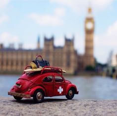 Vintage toy car by Kim Leuenberger Miniature Photography, Cute Photography, Creative Photography, Fruit Photography, Cute Images For Dp, Combi Wv, Volkswagen, Miniature Cars, Photo Images