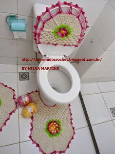 A TURMA DO CROCHET: Banheiro Jogo de banheiro luxo