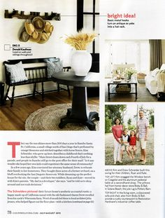 @Country Living Magazine  | July 2013-   Fog pillows by John Robshaw