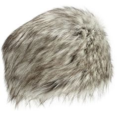 Neiman Marcus Faux-Fur Russian Hat ($33) ❤ liked on Polyvore featuring accessories, hats, silver fox, fox hat, fake fur hats, faux fur hat, fleece lined hat e neiman marcus hats