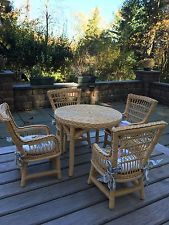 American Girl Doll Samantha Wicker Table and Chairs EUC Discontinued