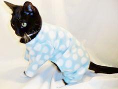Polka Dot Fleece Pajamas for the kitty hehehe