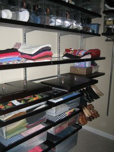 Love ELFA For The Closet In Walnut Decor Platinum Pull Out Drawers Are