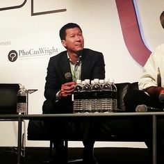 Jack Tan of Solare Hotels and Resorts. The challenge: getting the Solare name and brand out there. #wit2012 #witconference2012 #webintravel #itbasia #itbasia2012 #itbasia #marinabaysands #mbs #singapore #onlinetravel #travel #technology #socialmedia #marketing #igsg - @webintravel- #webstagram
