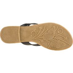 The Austin Trading Co.™ Women's Rio Thong Sandals feature polyurethane uppers with metal chain and plastic rhinestone accents.