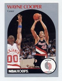 Pretty sure I had this Wayne Cooper basketball card. Is he putting up a shot over Benoit Benjamin?