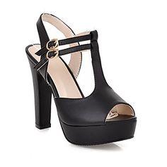 QueenFam Womens Open Peep Toe High Heel Platform Chunky Heels PU Soft Material Solid Sandals with Buckle, Black, 35 QueenFam http://www.amazon.com/dp/B00KZ8W5CI/ref=cm_sw_r_pi_dp_BYJXtb0YB1C66VR8
