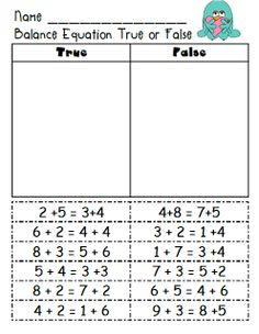 First Grade Fairytales Balancing Common Core & Freebies ) – Free Worksheets Samples Second Grade Math, Grade 1, First Grade Math Worksheets, Math Resources, Math Activities, Algebra, Eureka Math, Maila, Math Addition