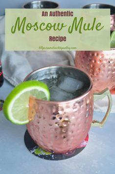 You might be surprised to learn that you might not be drinking an authentic Moscow Mule. Check this recipe out to get the cocktail ingredients straight from the inventors of the drink! Easy Drink Recipes, Best Cocktail Recipes, Easy Cocktails, Punch Recipes, Dinner Recipes, Best Moscow Mule, Moscow Mule Recipe, Irish Mule Recipe, Party Food And Drinks