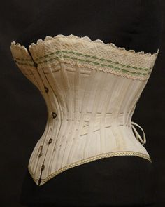 Corset, 1890's Fripperies and Fobs