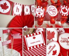Canada Day Party Printables Collection Instant by MarleyDesign Canada Day Party, Canada Day 2017, Canada Day 150, Happy Canada Day, O Canada, Visit Canada, Canadian Party, Canadian Thanksgiving, Canada Holiday