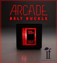Arcade Belt Buckle... that lights up