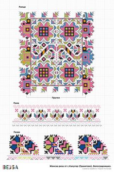 Женска риза от Белоградчишко – Vezba Creative Embroidery, Embroidery Hoop Art, Cross Stitch Embroidery, Embroidery Patterns, Floral Embroidery, Cross Stitch Designs, Cross Stitch Patterns, Antique Quilts, Satin Stitch