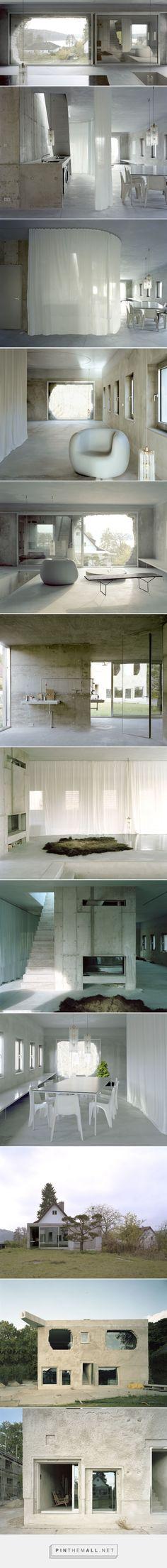 Antivilla, casa industriale moderna e minimalista a Berlino by Brandlhuber…