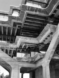 Geisel Library, William Pereira. Example of brutalist architecture.