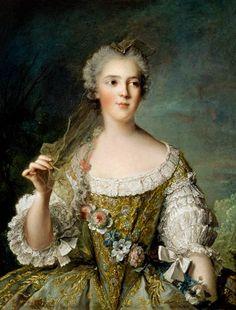 """Madame Sophie de France (1734-1782), ou Sophie Philippine Elisabeth Justine de France surnommée """"graille"""" par son père, et dite Madame Cinquième, puis Madame Sophie. 6ème fille de Louis XV."""