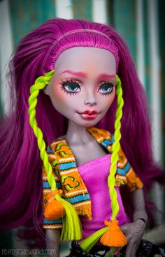 Custom Monster High Marisol Coxi Repaint by by thekawaiimachine