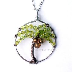 Copyright Home Baby Crafts 2012  The Coconut Palm Wire Tree of Life in Kyanite by HomeBabyCrafts, $36.00