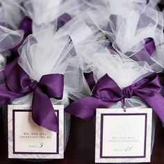 Purple Wedding favors